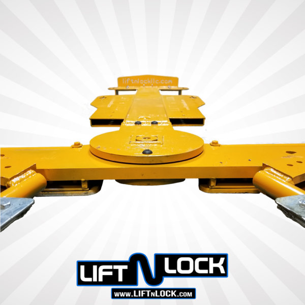 car towing forklift attachment front view