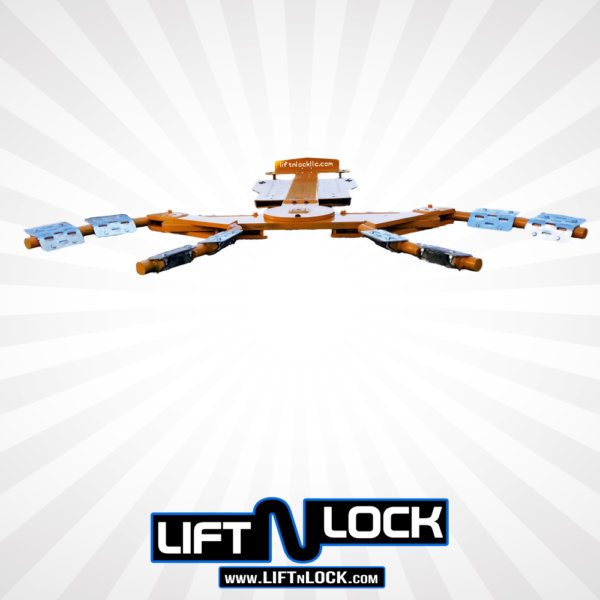 low profile design wheel lift forklift attachment