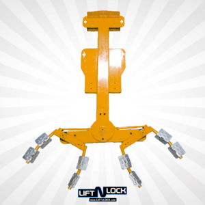 top view forklift car lift attachment