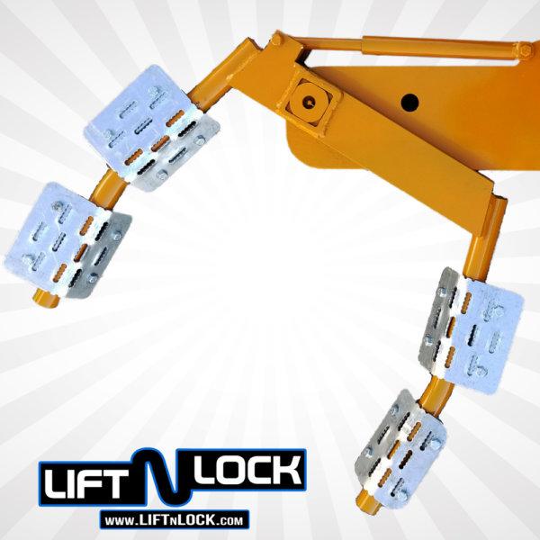 universal tire cradles wheel lift attachment